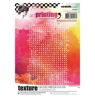 Gummi Textur Plate Background avec des points - Carabelle Studio