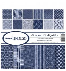 Scrapbooking Papier Shades of Indigo - Reminisce