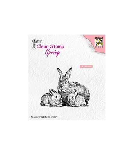 Clear Stamp Rabbit Family - Nellie Snellen