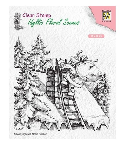 Clear Stamp Santa Claus at work - Nellie Snellen