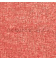Scrapbooking Papier Leinen erdbeerrot - Alexandra Renke