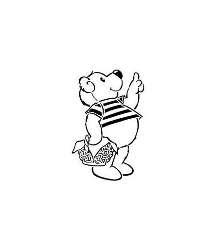 Mini Stempel Bär mit Pulli