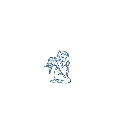 Betender Engel knieend Stempel