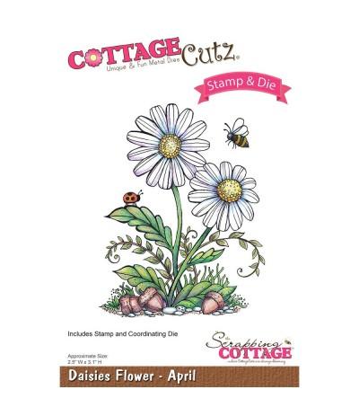 Clear Stamps und Stanzschablonen Set Daisies - Cottage Cutz