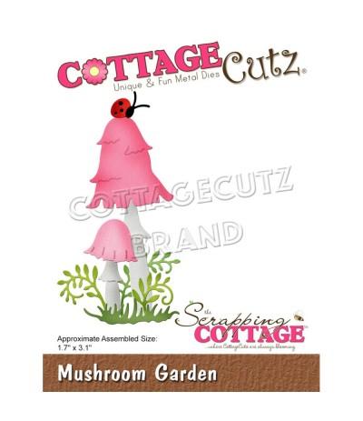 Stanzschablone Mushroom Garden - Cottage Cutz
