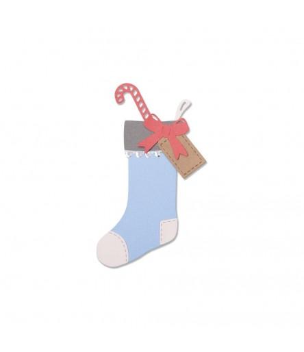 Stanzschablone Christmas Stocking - Sizzix