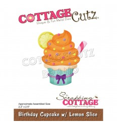Stanzschablone Birthday Cupcake with Lemon Slice - Cottage Cutz