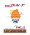 Stanzschablone Birthday Cupcake with Lemon Slice - Cottage Cutz