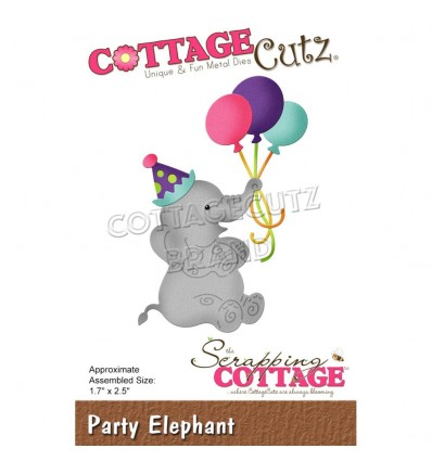 Stanzschablone Party Elephant - Cottage Cutz