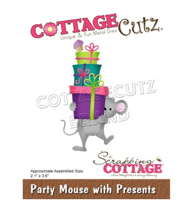 Stanzschablone Party Mouse with Presents - Cottage Cutz