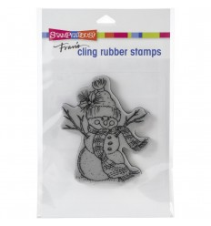 Cling Stempel Snowman Scarf - Stampendous