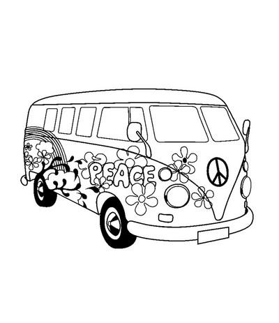 Stempel Hippie Bus - Artemio