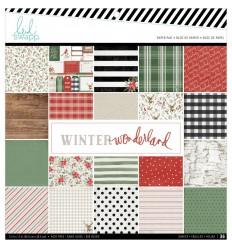 """Scrapbookingpapier Winter Wonderland, 12"""" x12"""" - Heidi Swapp"""
