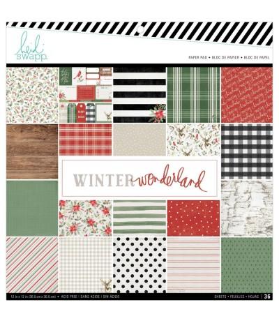 """Scrapbookingpapier Winter Wonderland, 12"""" x12"""" - Heidi Swapp ***"""