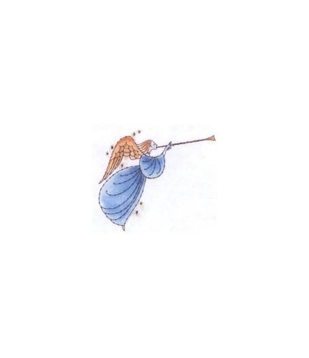 Engel mit Trompette Stempel