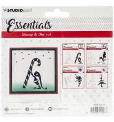 Stanz- und Stempel-Set Elf mit Zuckerstange - Studio Light