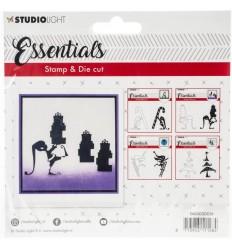Stanz- und Stempelset Elf mit Päckli - Studio Light