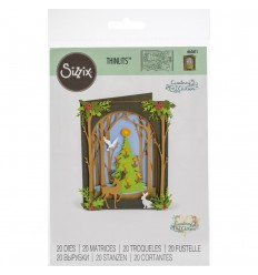 Stanzschablonen Christmas Shadow Box - Sizzix