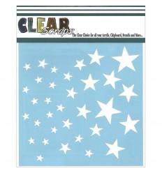 Stencil Schablone Stars - Clear Scraps