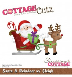 Stanzschablone Santa & Reindeer with Sleigh - Cottage Cutz