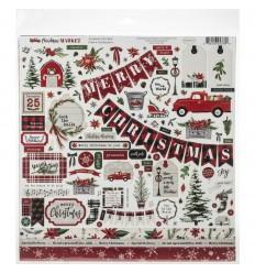 Scrapbooking Papier Christmas Market - Carta Bella