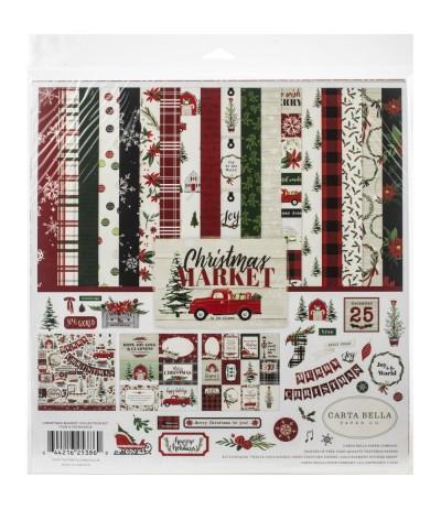 Scrapbooking Papier Christmas Market - Carta Bella ***