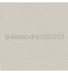 Scrapbooking Papier Schneeflocke Grau- Alexandra Renke
