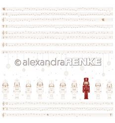 Scrapbooking Papier Nussknacker mit Noten - Alexandra Renke