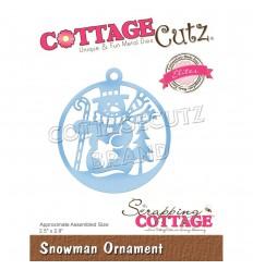 Stanzschablone Snowman Ornament - Cottage Cutz