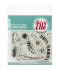Clear Stamp Holiday Skates - Avery Elle