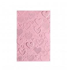 3D Prägeschablone Hearts - Sizzix