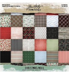 "Scrapbooking Papier Christmas, 8"" x 8"" - Tim Holtz"