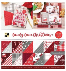 "Scrapbooking Papier Candy Cane Christmas, 12"" x 12"" - DCWV"