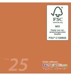 Scrapbooking Papier in rehbraun, 12 Stk. - FK