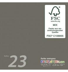 Scrapbooking Papier in steingrau, 12 Stk. - FK