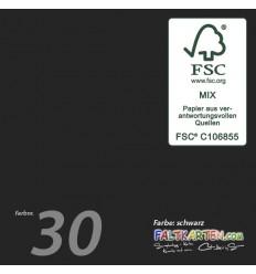 Scrapbooking Papier in schwarz, 12 Stk. - FK