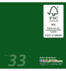 Scrapbooking Papier in dunkelgrün, 12 Stk. - FK