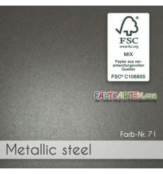 Scrapbooking Papier in metallic steel, 1 Stk. - FK
