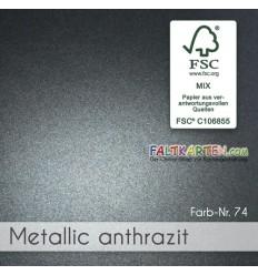 Scrapbooking Papier in metallic silber, 1 Stk. - FK