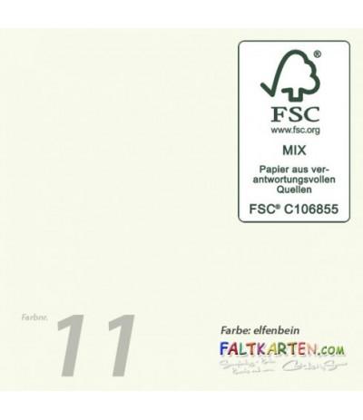 Briefumschläge in elfenbein, 16 x 16cm, 25 Stk. - FK