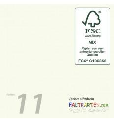 Doppelkarten in elfenbein 15.0 x 15.0 cm, 25 Stk. -F K