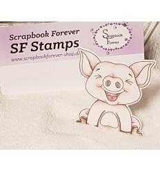 Clear Stamps Schweinchen - Scrapbook Forever