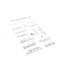 Clear Stamps Geschwungene Grüsse - XMAS -Klassisch - Creative Depot