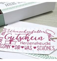 Clear Stamps Wortwolke Gutschein - Creative Depot