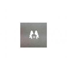 Stanzschablone Tannen mit Haus - Creative Depot