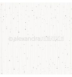 Scrapbooking Papier Goldene Sternenstreifen mit blau - Alexandra Renke