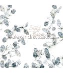 Scrapbooking Papier X-Mas floral Zapfen - Alexandra Renke