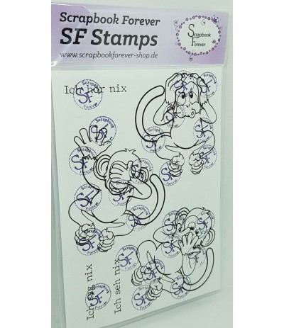 Clear Stamps Die 3 Affen - Scrapbook Forever