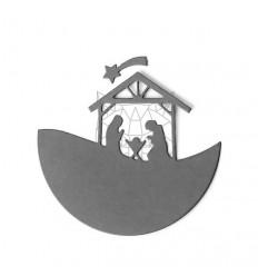 Stanzschablone Panorama Krippe - Charlie und Paulchen