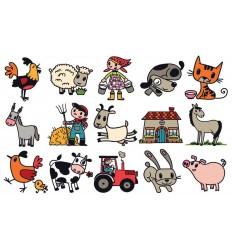 Bauernhof Tiere Stempel-Set